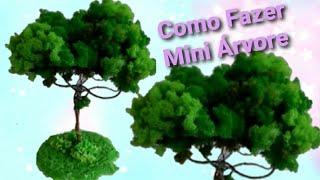 Árvore de Espuma Triturada para Maquete ou Decoração Parte 2/3