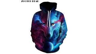 Wolf Printed Hoodies Men 3D Sweatshirt Quality Plus size Pullover up to  6XL