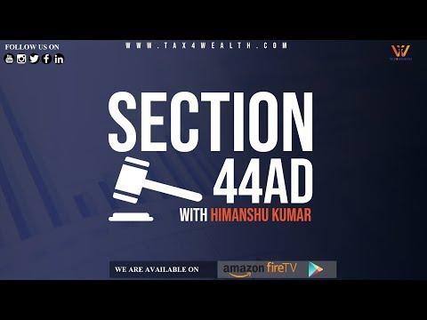 Section 44AD: No Tax Upto 1 Cr Under Presumptive Taxation Scheme