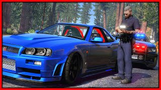 GTA 5 Roleplay - Fake Cop Steals Nissan Skyline GTR R34 | RedlineRP #973
