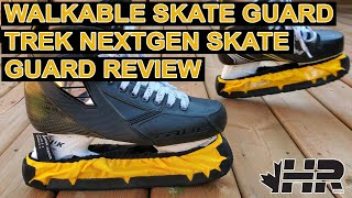 Walkable terrycloth hockey skate guards Blue Sports Trek NextGen review