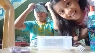 Blind folded challenge with my cousin emiel