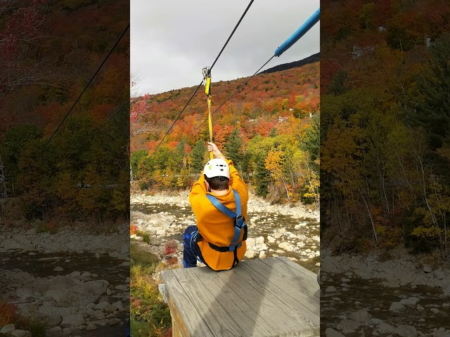 Ethan on the Loon Zipline - Troop 279
