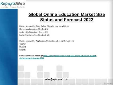 Online Education Market 2017 Emerging Trends