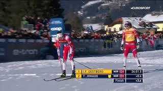 Эстберг выиграла гонку преследования на Тур де Ски