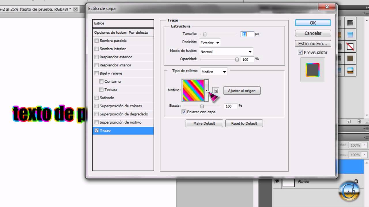 Photoshop CS5 - Poner borde a un texto. - YouTube