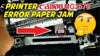 cara bongkar printer canon mg2570s  mg2570 paper jam