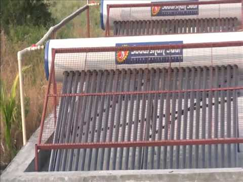 Sudarshan Solar water heaters or Domestic hot water systems save electrical Energy for nation