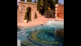 Italian tile swimming pool