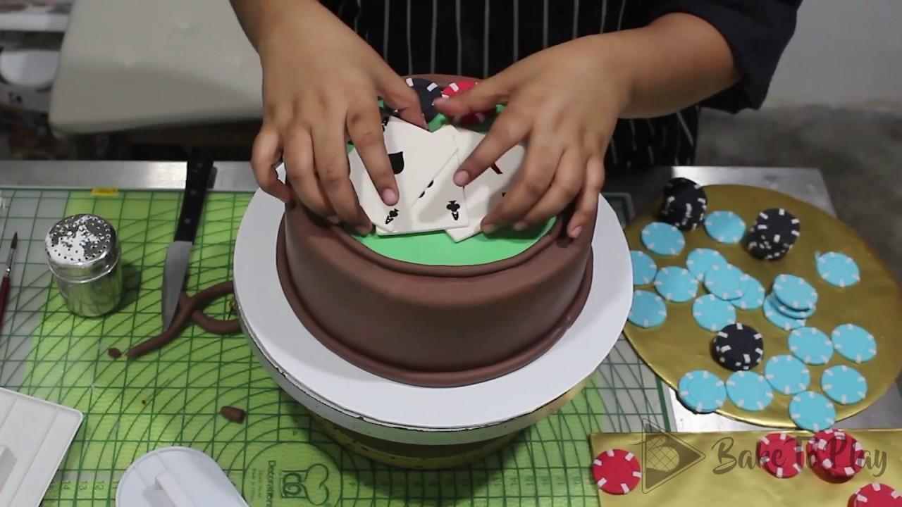 How To Make A Poker Cake Bake To Play Youtube