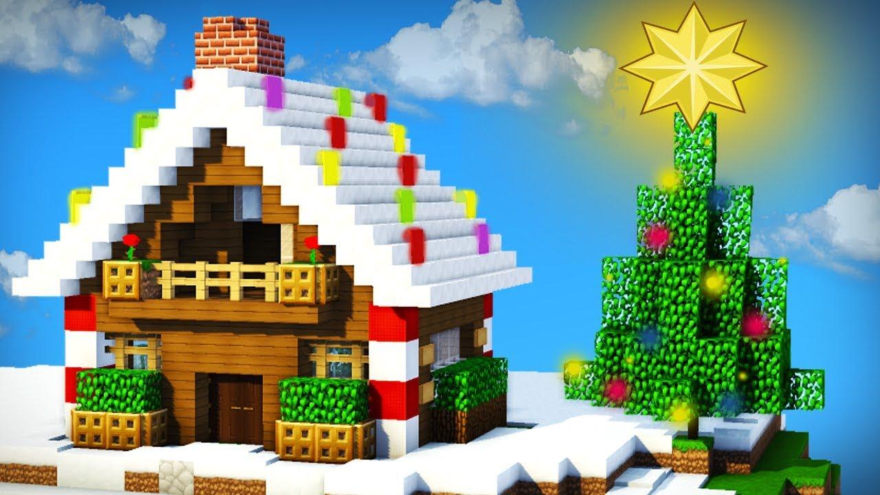 Minecraft como hacer una hermosa casa navide a for Casa jengibre