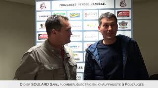 Didier Soulard partenaire au micro du Pouzauges Vendée Handball