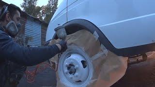 Газпром. Удаляем ржавчину просроченной полиролью. Красим колеса.