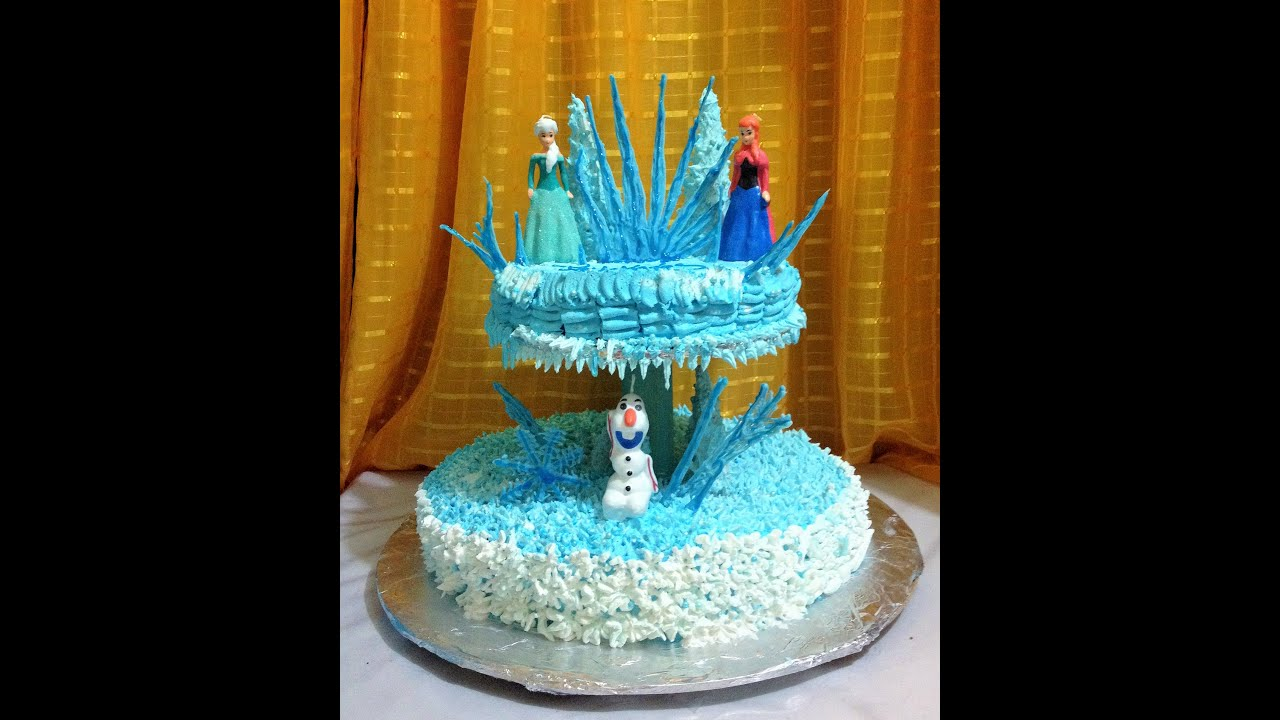 Como Se Decora Una Tarta Diy Decora Pastel De Frozen Decorate Cake Frozen Torta