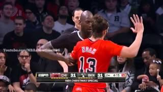 Joakim Noah YELLS at Kevin Garnett   Bulls vs Nets   December 25, 2013   NBA 2013 2014 Season
