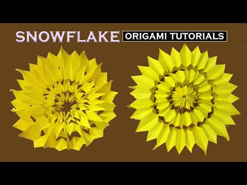How to Make Paper Snowflake - Origami Folds (DIY)
