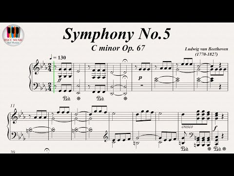 Symphony No.5  C minor Op. 67 - Ludwig van Beethoven, Piano