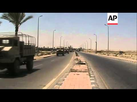 Egypt sends more armoured vehicles to hunt for militants