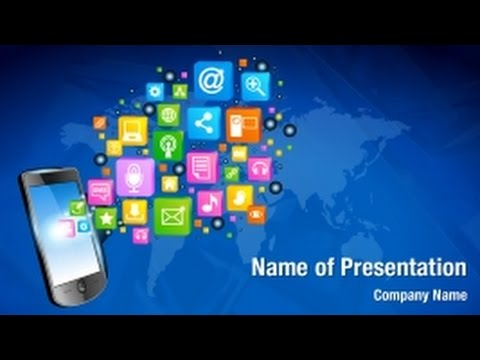 Mobile phone applications powerpoint video template backgrounds mobile phone applications powerpoint video template backgrounds digitalofficepro 01278v youtube toneelgroepblik Images