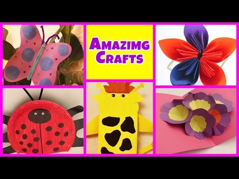 Amazing Arts and Crafts Collection   Easy DIY Tutorials   Kids Home decor Tips