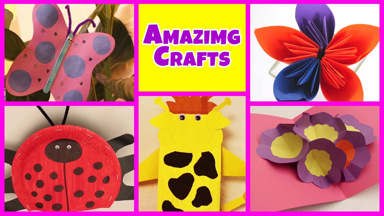 Attractive Simple Art And Craft Ideas For Kids Part - 3: Amazing Arts And Crafts Collection | Easy DIY Tutorials | Kids Home Decor  Tips - YouTube