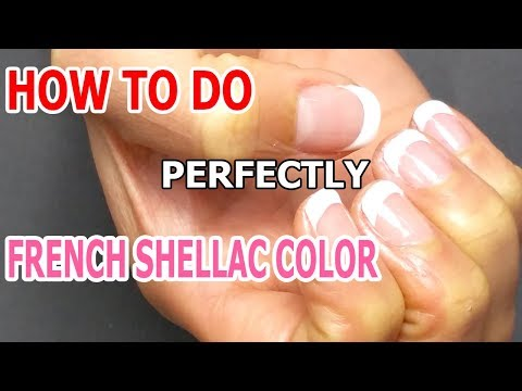 How To Do French Shellac Color Perfectly ♥ French Technique ♥ Regal Nails Salon