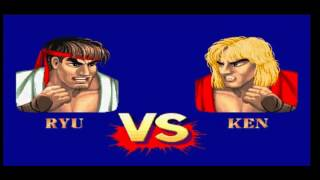 Street fighter II´ maquina recreativa emulada en mame32