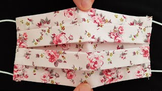 Face Mask Sewing Tutorial / How to Make a Face Mask with Filter Pocket / DIY Cotton Fabric Face Mask