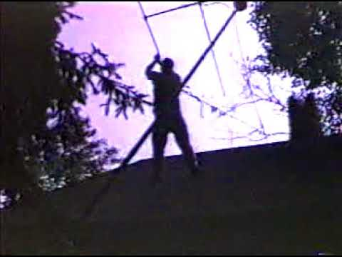 1989 - The Grand Hayes Mill Adventure (Tim on roof)