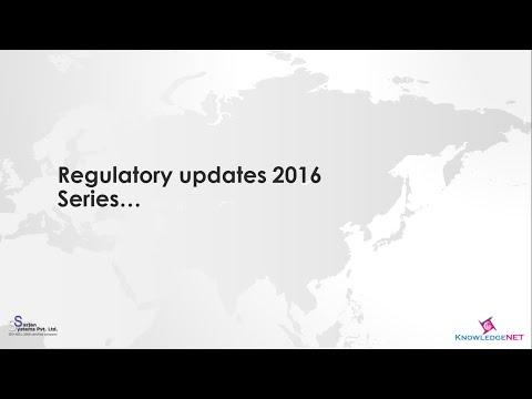 Regulatory Updates 2016