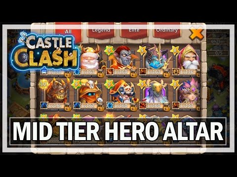 Castle Clash Gameplay Hero Altar Review - Android Let's Play