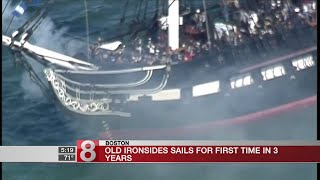 Old Ironsides sails for first time in 3 years
