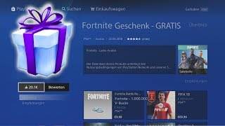 FREE GIFT from Fortnite for PS4! | (Free) | Fortnite Battle Royale