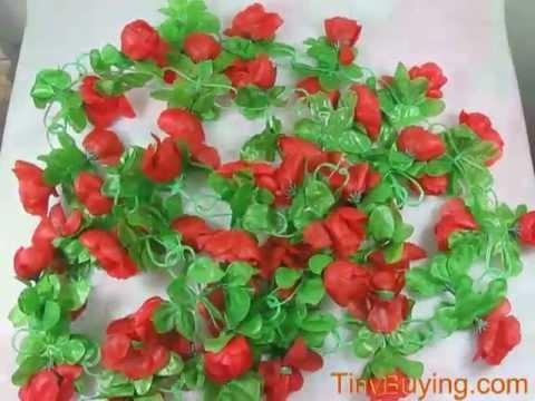Artificial Rose Garland Silk Flower Vine For Home Wedding Garden