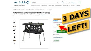 Sam's Club Keter Table Tool Deal 50% OFF! New Outdoor, Clearance