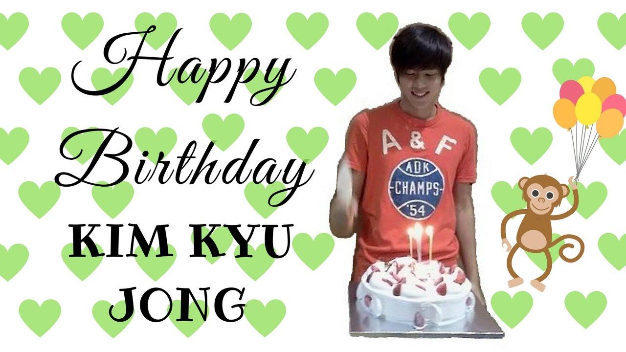 anniversaire kim kyu jong