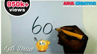 Very Easy ! 60 with How to Draw a mahatma GANDHI Easily / Drawing gandhi jayanti /Art for Childrens