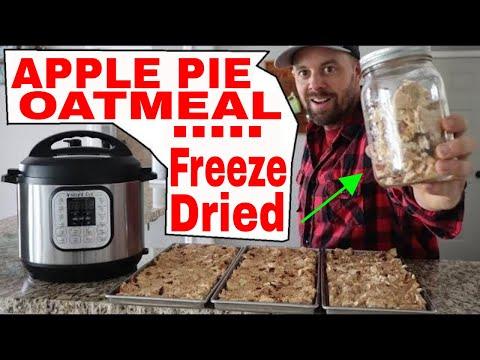 Instant Pot HOT APPLE PIE Oatmeal...then Freeze Dried