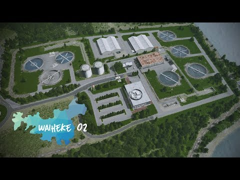 Cities: Skylines   Waiheke - 2 - Realistic Water Treatment Plant [Showcase]