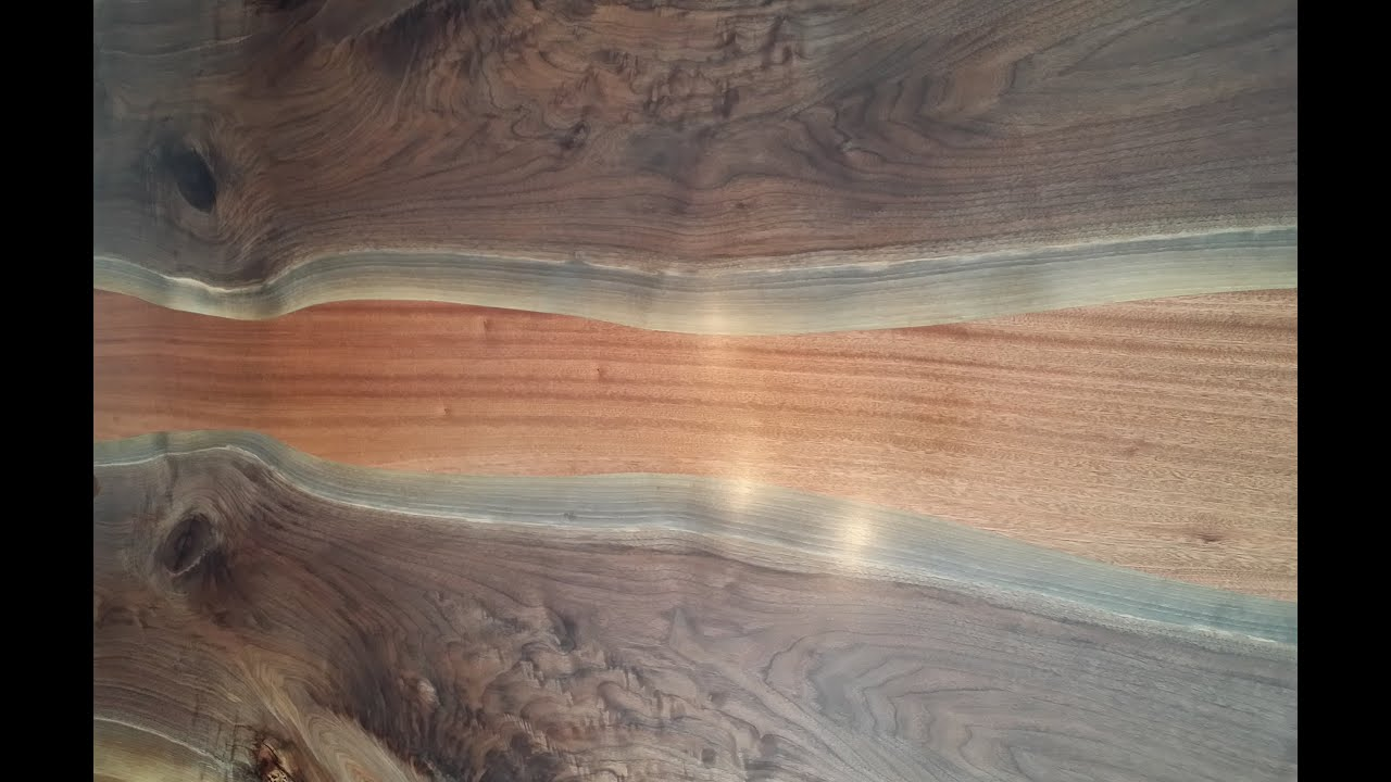 plete Build of Live Edge Walnut Slab Dining Table Stop Motion