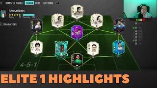 Elite 1 With A FULL ITALIAN Team FIFA 20 FUT Champions Highlights