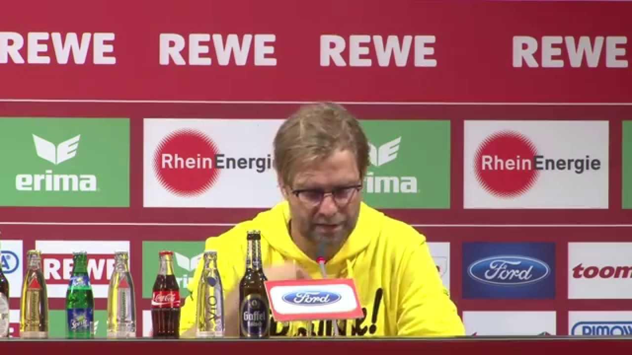 Pressekonferenz: Jürgen Klopp nach dem Spiel 1. FC Köln - Borussia Dortmund (2:1) | BVB