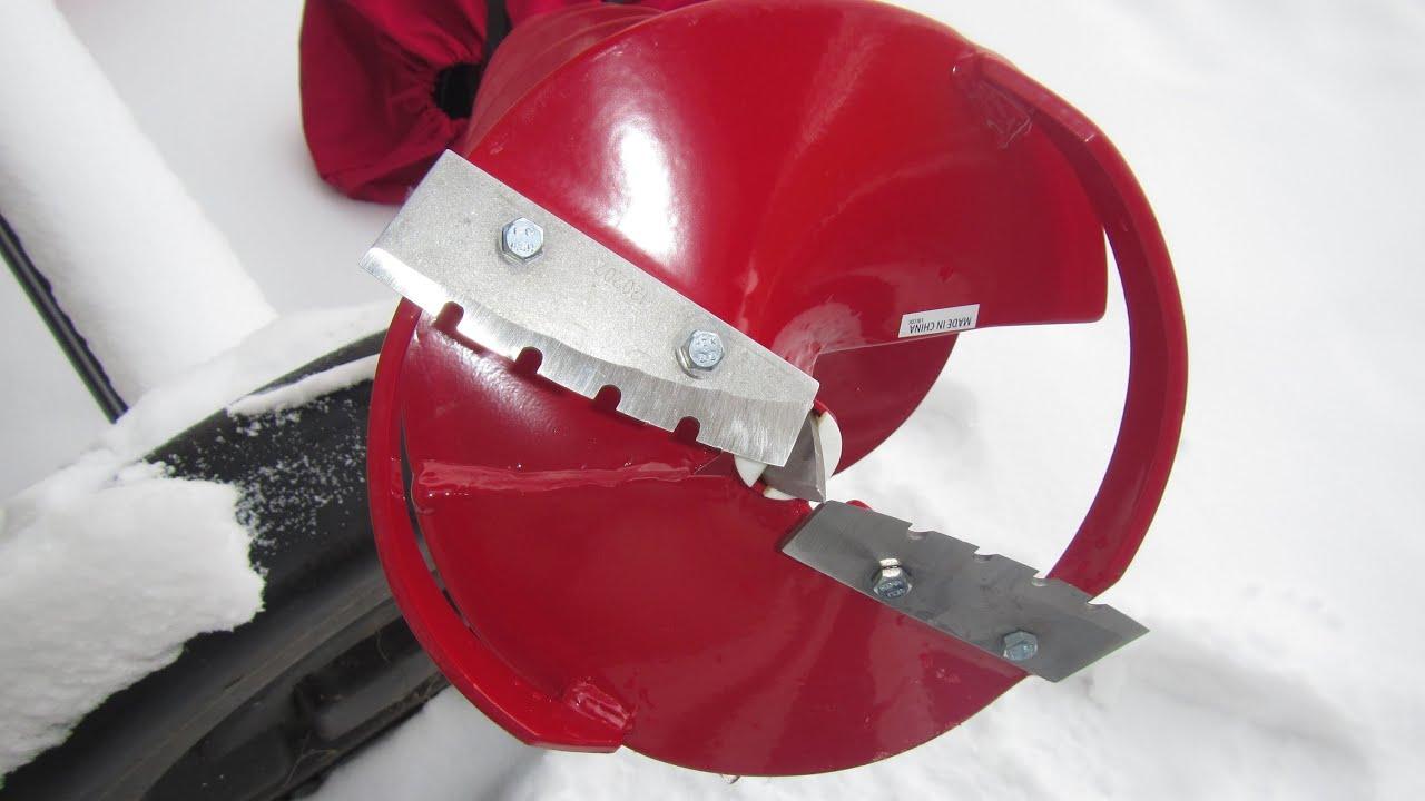Ice auger blade sharpening -Eskimo 8