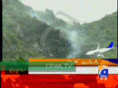 Plane Crashes into Margalla Hills, Islamabad   28th July 2010 http://cpak.tv