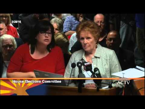 #ArizonaElectionFraud AZ House Elections Committee 3/28/16