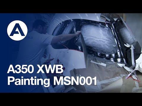 Painting the A350 XWB for flight