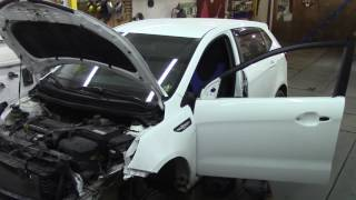 Кузовной ремонт. Не большой ремонт КИА Рио.Body repair.(Body repair. Кузовной ремонт автомобилей в гараже. Подробности на моем сайте. http://remontkuzova.blogspot.ru/ Комментарии..., 2016-06-04T15:20:15.000Z)