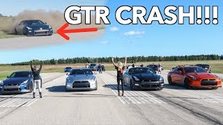 WORLDS GREATEST NISSAN GTR DRAG RACE **4000HP CRASH**