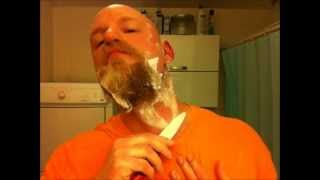 Kyocera ceramic knife vs. full beard (The worlds second ceramic shave video)