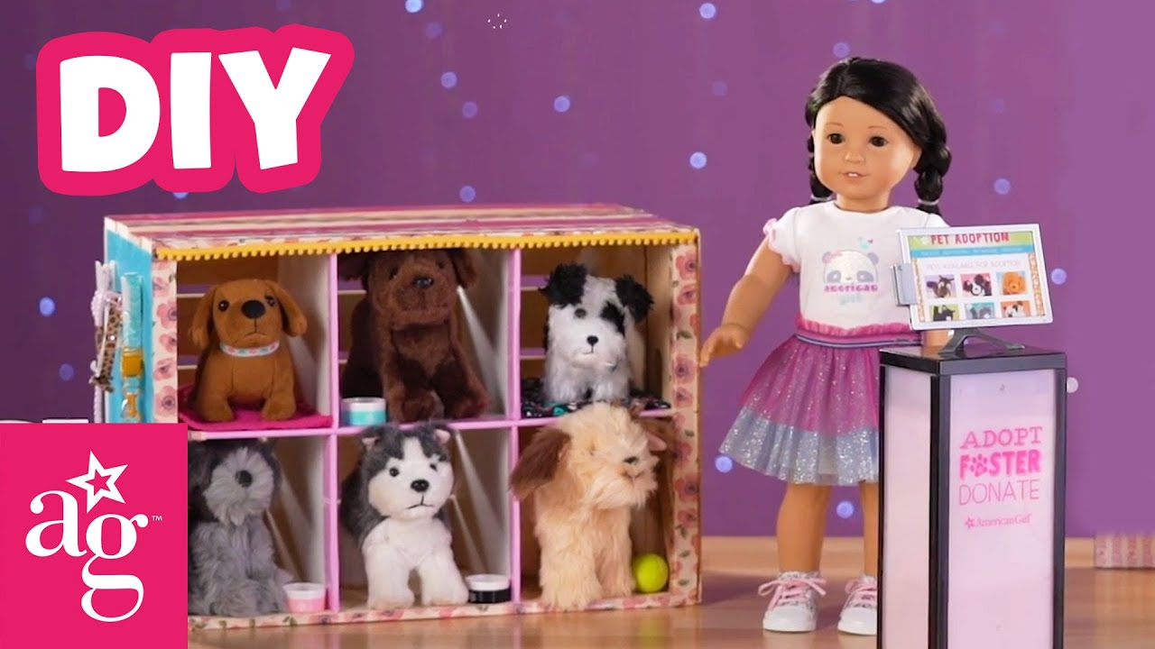 Furry, Fuzzy & Cute DIY Mini Doggie Day Care | Doll DIY | American Girl